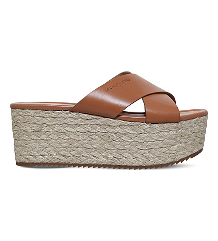 MICHAEL MICHAEL KORS Vivianna sliders (Tan