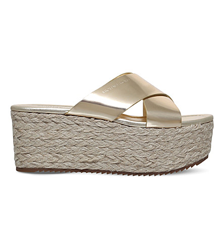 MICHAEL MICHAEL KORS Vivianna sliders (Gold