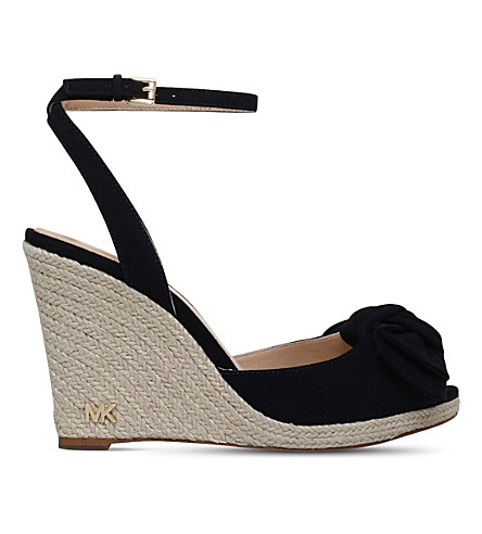 MICHAEL MICHAEL KORS Willa suede wedge espadrilles (Black
