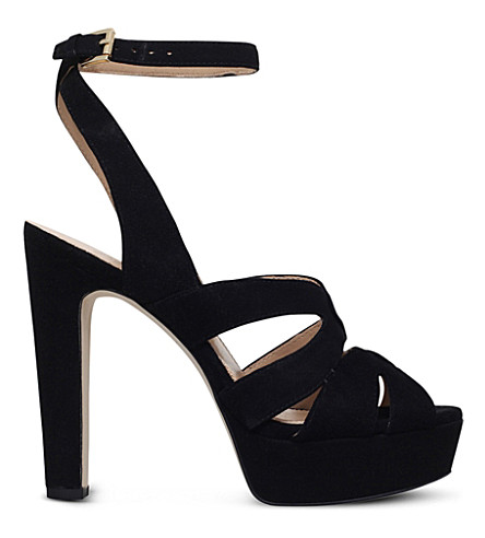 MICHAEL MICHAEL KORS Winona suede strappy sandals (Black