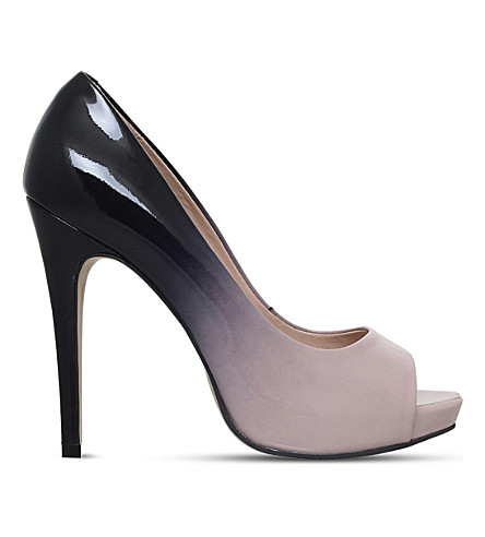 CARVELA Alberta patent leather ombré courts (Nude