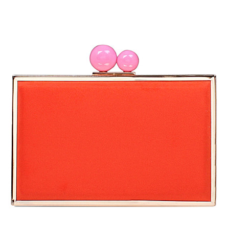 CARVELA Gladly suedette clutch bag (Red