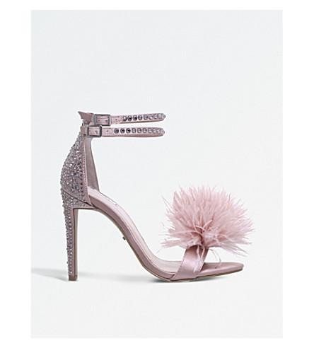 CARVELA Glenn fluffy faux-suede sandals (Nude