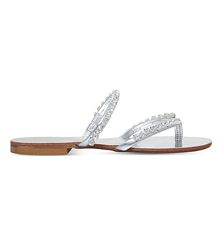 CARVELA Kilburn embellished sandals (Silver