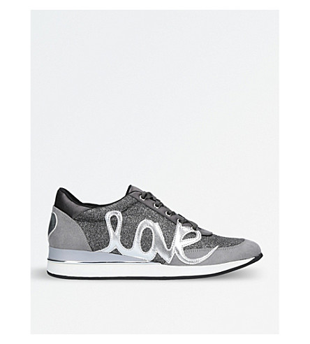 KG KURT GEIGER Ottilie metallic-detail trainers (Pewter