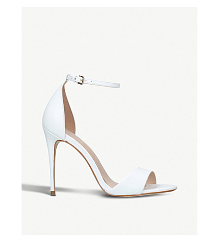 CARVELA Glimmer leather heeled sandals (White