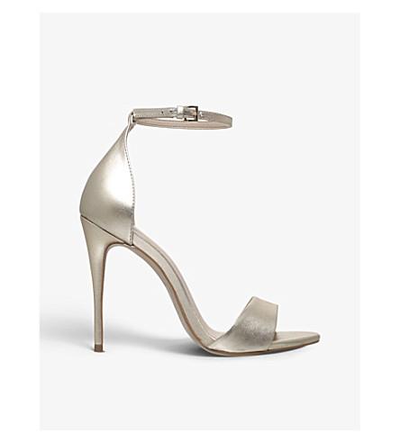 CARVELA Glimmer leather sandals (Gold