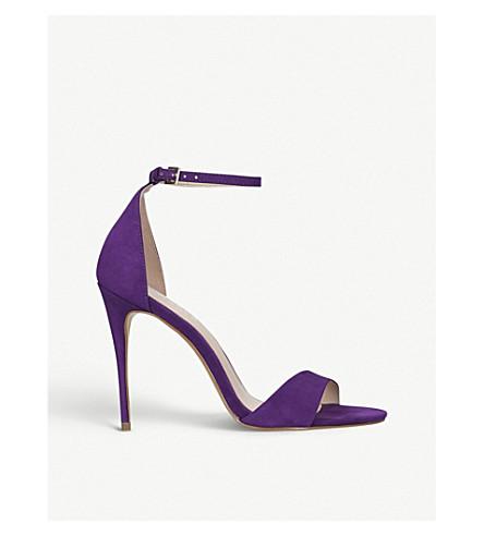 CARVELA Glimmer leather heeled sandals (Purple