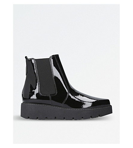 KG KURT GEIGER Stompton patent ankle boots (Black