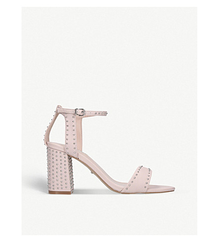 CARVELA Gogo leather block heel sandals (Nude