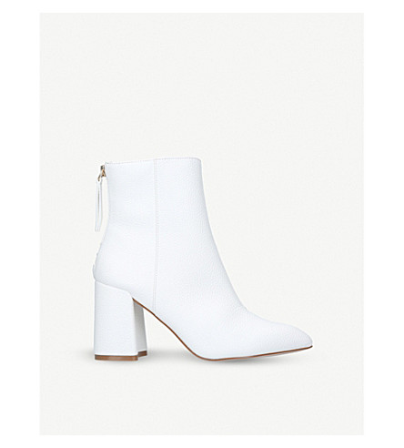 MISS KG Secret zipped faux-leather boots (White