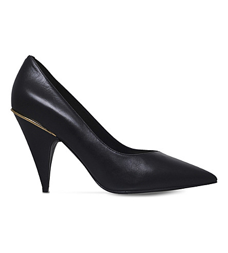 NINE WEST Whistles leather court shoes (Black