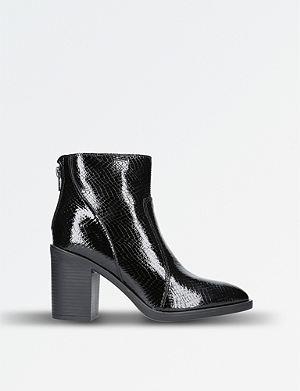KG KURT GEIGER Sly patent leather ankle boots Black - M9439