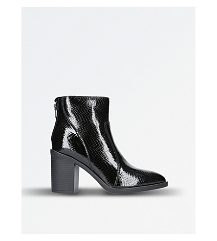 KG KURT GEIGER Sly patent leather ankle boots (Black