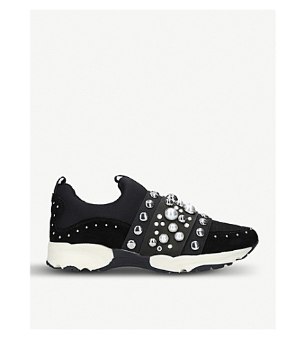 CARVELA Luck embellished mesh trainers (Black