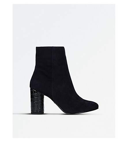 CARVELA Smiling heeled ankle boots (Navy