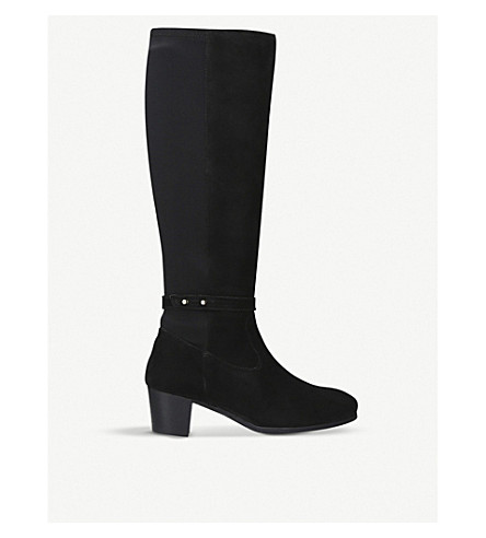 CARVELA COMFORT Violet suede knee-high boots (Black