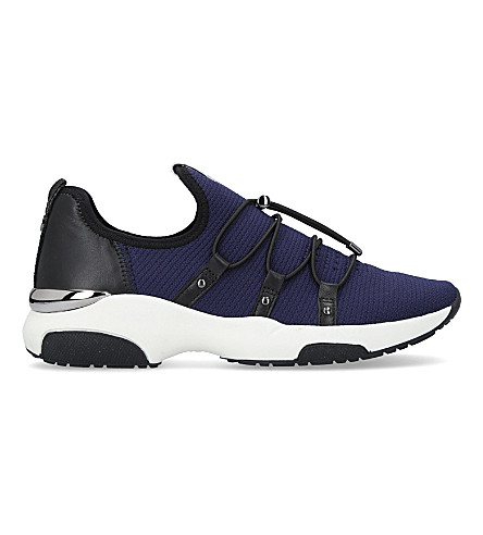 CARVELA Lindsay fabric criss-cross trainers (Navy
