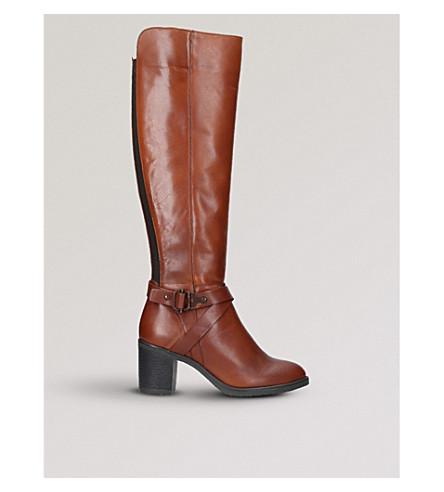 CARVELA COMFORT 维罗纳皮革靴子 (棕褐色