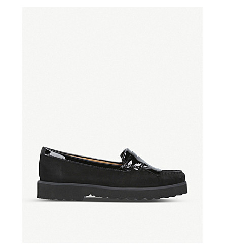 CARVELA COMFORT Claire suede loafers (Black