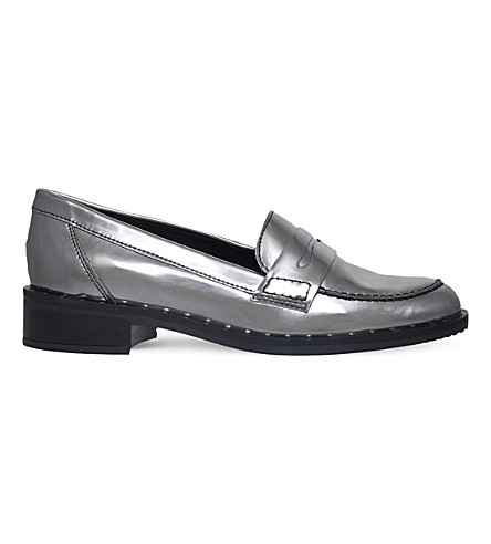 CARVELA Lynora metallic loafers (Gunmetal