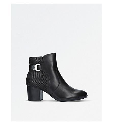 CARVELA COMFORT Rose leather ankle boots (Black