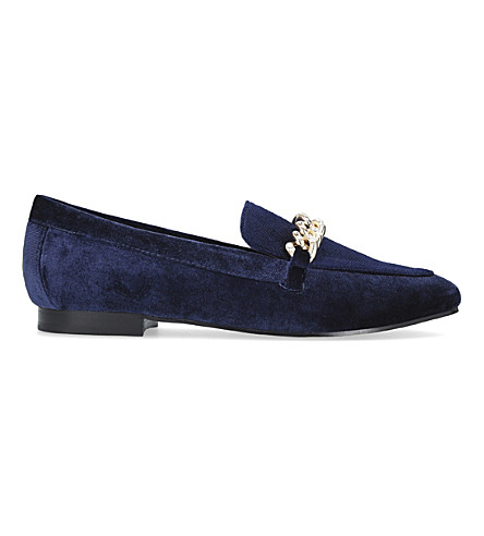 CARVELA Lord velvet slippers (Blue
