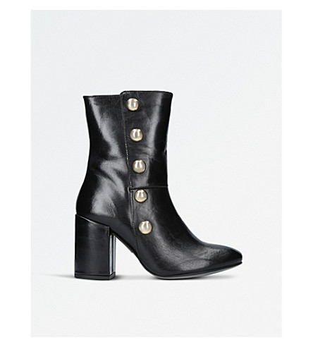 CARVELA Soldier leather ankle boots (Black