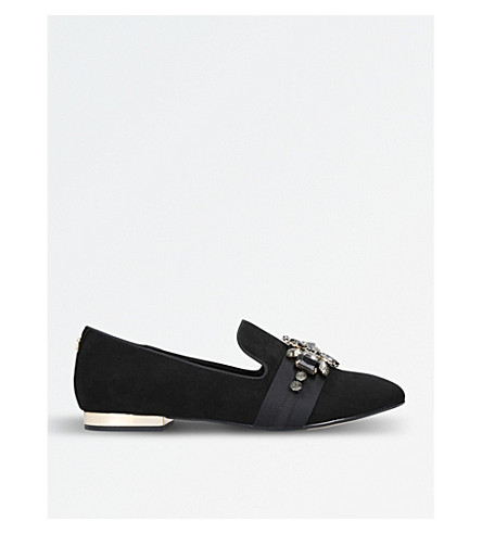 CARVELA Lottie embellished flat loafers (Black