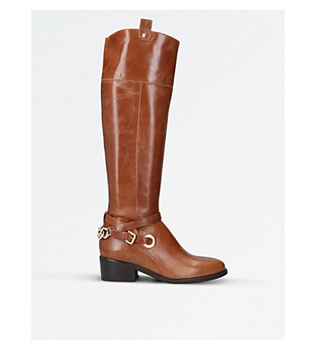 CARVELA Wrap leather over-the-knee boots (Tan