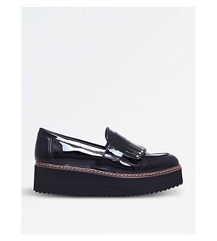 CARVELA Lucile tasselled patent flatforms (Black