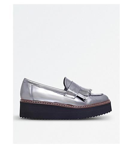 CARVELA Lucile metallic flatform loafers (Gunmetal