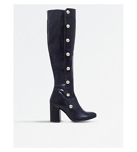 CARVELA Waterloo studded leather boots (Black