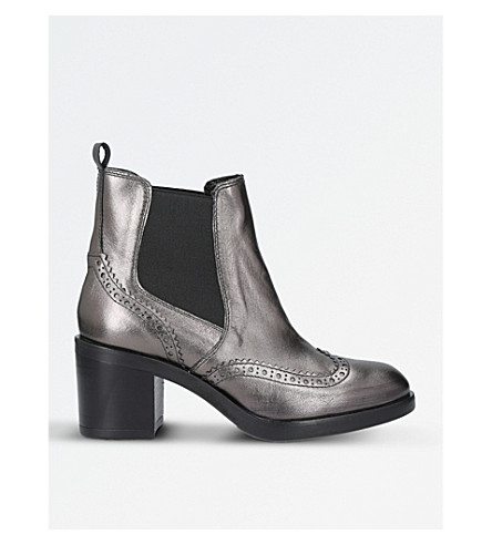 CARVELA Slow Down metallic-leather Chelsea boots (Gunmetal