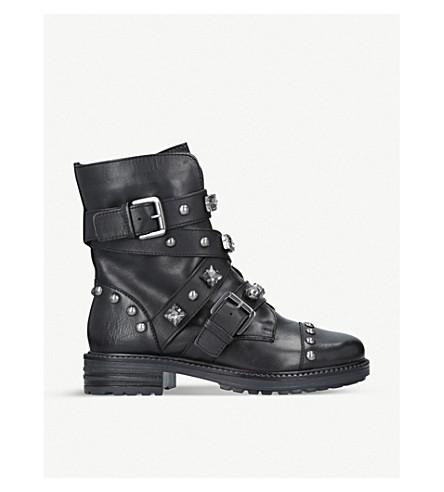 CARVELA Sander leather stud embellished boots (Black