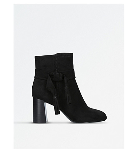 NINE WEST Kalnera suede heeled boots (Black