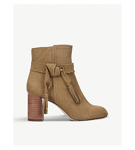 NINE WEST Kalnera suede heeled boots (Taupe