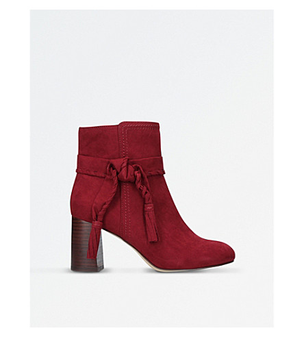 NINE WEST Kalnera suede heeled boots (Wine
