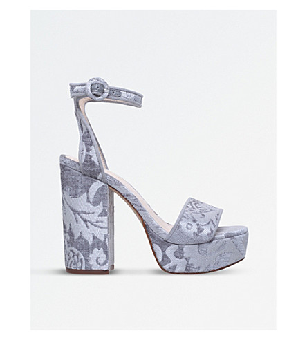 NINE WEST Krewl platform floral sandals (Grey