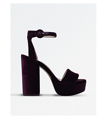 NINE WEST Krewl platform velvet sandals (Purple