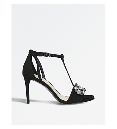 NINE WEST Rumsey t-bar embellished sandals (Black