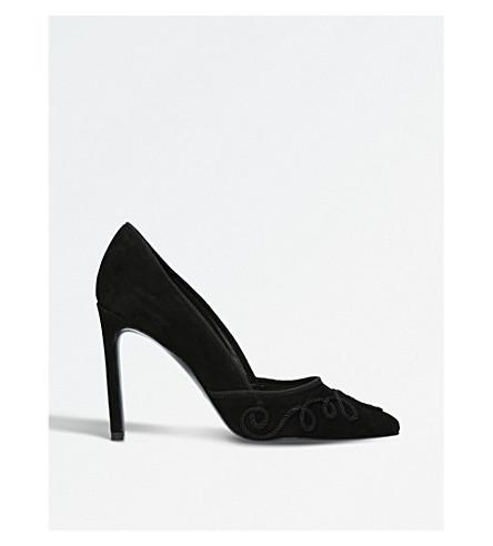 NINE WEST Teddie suede court heels (Black