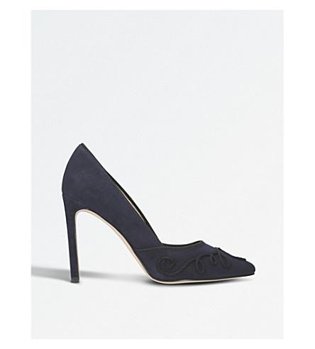 NINE WEST Teddie suede court heels (Navy