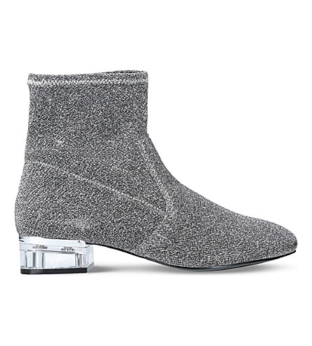NINE WEST Urazza metallic ankle boots (Silver