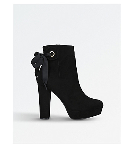 MISS KG Sheree suede ankle boots (Black