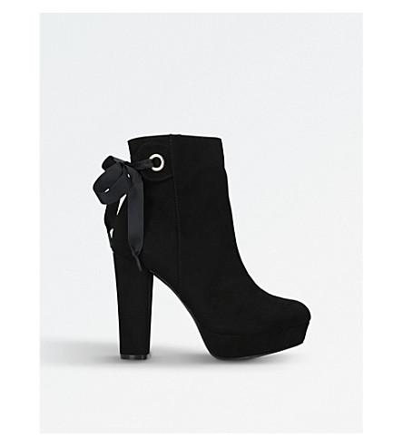 MISS KG 谢莉麂皮绒脚踝靴 (黑色