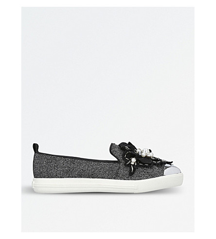 MISS KG Laurie embellished slip-on trainers (Black