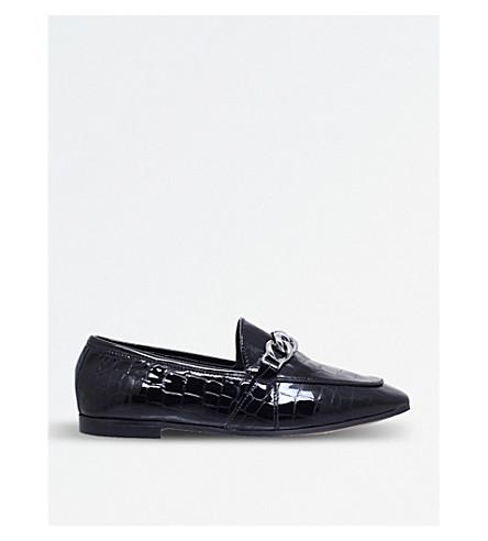 KG KURT GEIGER Kenzie chain-detail flat loafers (Black