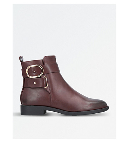 MISS KG Trinny buckle-detail ankle boots (Wine