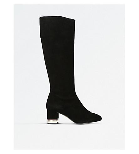 KG KURT GEIGER Tina knee high suede boots (Black